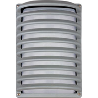 Zenith Energy Efficient 1 Light 12 inch Platinum Outdoor Wall Mount