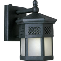 Scottsdale Energy Efficient 1 Light 9 inch Country Forge Outdoor Wall Mount