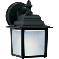 Maxim Lighting Side Door Energy Efficient 1 Light Outdoor Wall Mount in Black 86924BK