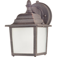Maxim 86924RP Side Door Energy Efficient 1 Light 9 inch Rust Patina Outdoor Wall Mount