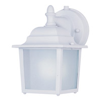 Maxim Lighting Side Door Energy Efficient 1 Light Outdoor Wall Mount in White 86924WT