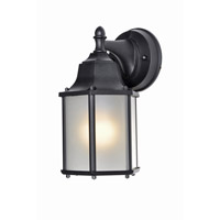 Maxim Lighting Side Door Energy Efficient 1 Light Outdoor Wall Mount in Black 86926BK