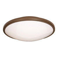 Maxim Lighting Rim Energy Efficient 1 Light Flush Mount in Oil Rubbed Bronze 87210OI