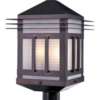 Maxim Lighting Gatsby 2 Light Outdoor Pole/Post Lantern in Burnished 8725PRBU