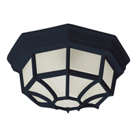Flush Mount Energy Efficient 1 Light 12 inch Black Outdoor Ceiling Mount