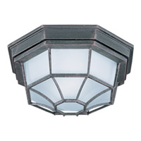 Maxim Lighting Flush Mount Energy Efficient 1 Light Outdoor Ceiling Mount in Rust Patina 87920RP
