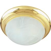 Maxim 87951MRPB Flair EE 2 Light 14 inch Polished Brass Flush Mount Ceiling Light