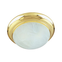 Maxim Lighting Flair EE 3 Light Flush Mount in Polished Brass 87952MRPB