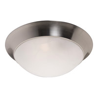 Flair Energy Efficient 3 Light 17 inch Satin Nickel Flush Mount Ceiling Light