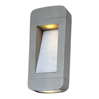 Maxim Lighting Optic LED 2 Light Outdoor Wall Mount in Platinum 88252PL