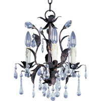 Grove 3 Light 14 inch Oil Rubbed Bronze Mini Chandelier Ceiling Light