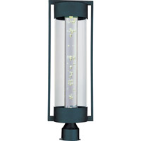 New Age LED LED 26 inch Texture Ebony Outdoor Pole/Post Lantern