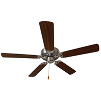 Basic-Max 52 inch Satin Nickel and Walnut Indoor Ceiling Fan