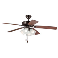 Maxim 89907FTOIWP Basic-Max 52 inch Oil Rubbed Bronze and Walnut Indoor Ceiling Fan