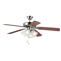 Maxim 89907FTSNWP Basic-Max 52 inch Satin Nickel and Walnut and Pecan Indoor Ceiling Fan photo thumbnail