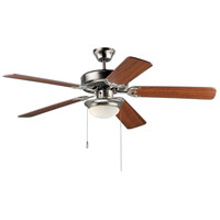 Basic-Max 52 inch Satin Nickel and Walnut and Pecan Indoor Ceiling Fan
