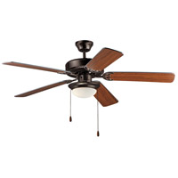Maxim 89908SWOIWP Basic-Max 52 inch Oil Rubbed Bronze and Walnut and Pecan Indoor Ceiling Fan