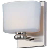 Maxim 9001SWSN Essence 1 Light 5 inch Satin Nickel Bath Light Wall Light