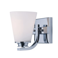 Maxim 9011SWPC Conical 1 Light 4 inch Polished Chrome Vanity Light Wall Light