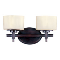 Maxim Lighting Lola 2 Light Bath Light in Oil Rubbed Bronze 9022DWOI