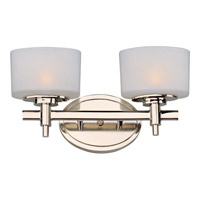 Lola 2 Light 14 inch Polished Nickel Bath Light Wall Light in 13.75 in.