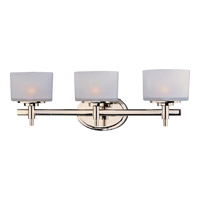 Maxim Lighting Lola 3 Light Bath Light in Polished Nickel 9023SWPN