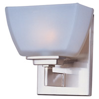 Angle 1 Light 7 inch Satin Nickel Bath Light Wall Light in 6.5 in.