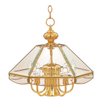 Maxim Lighting Bound Glass 6 Light Single Tier Chandelier in Polished Brass 90328CLPB