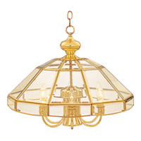 Maxim Lighting Bound Glass 7 Light Single Tier Chandelier in Polished Brass 90329CLPB photo thumbnail