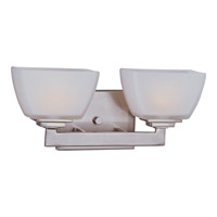 Angle 2 Light 14 inch Satin Nickel Bath Light Wall Light in 13.5 in.