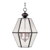 Maxim Lighting Bound Glass 3 Light Entry Foyer Pendant in Country Stone 90350CLCS photo thumbnail
