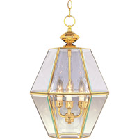 Maxim Lighting Bound Glass 3 Light Pendant in Polished Brass 90350CLPB