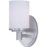 Cylinder 1 Light 4 inch Satin Nickel Bath Light Wall Light in 4 in.
