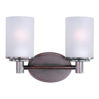 Maxim Lighting Cylinder 2 Light Bath Vanity in Oil Rubbed Bronze 9052SWOI