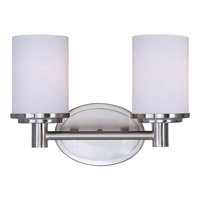 Maxim 9052SWSN Cylinder 2 Light 13 inch Satin Nickel Bath Light Wall Light in 12.5 in.