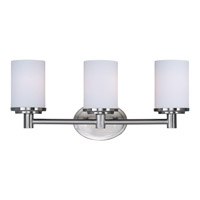 Maxim Lighting Cylinder 3 Light Bath Light in Satin Nickel 9053SWSN