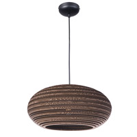 Maxim 9105JVBK Java 1 Light 17 inch Black Pendant Ceiling Light
