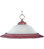Maxim Lighting Signature 1 Light Pendant in Country Stone 91070FTCS