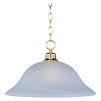 Maxim Lighting Signature 1 Light Pendant in Polished Brass 91076MRPB