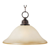 Maxim 91076WSOI Signature 1 Light 16 inch Oil Rubbed Bronze Pendant Ceiling Light in Wilshire