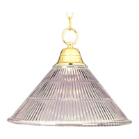 Maxim Lighting Signature 1 Light Pendant in Polished Brass 91101CLPB