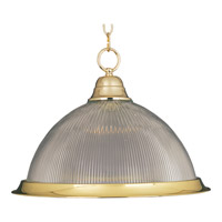 Maxim Lighting Builder Basics 1 Light Pendant in Polished Brass 91102CLPB