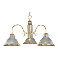 Maxim Lighting Builder Basics 3 Light Down Light Chandelier in Polished Brass 91193CLPB