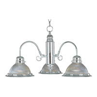 Maxim Lighting Builder Basics 3 Light Mini Chandelier in Satin Nickel 91193CLSN