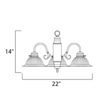 Maxim Lighting Builder Basics 3 Light Down Light Chandelier in Polished Brass 91193CLPB alternative photo thumbnail