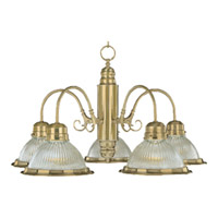 Maxim Lighting Builder Basics 5 Light Down Light Chandelier in Polished Brass 91195CLPB