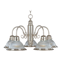 Maxim Lighting Builder Basics 5 Light Down Light Chandelier in Satin Nickel 91195CLSN