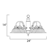 Maxim Lighting Builder Basics 5 Light Down Light Chandelier in Polished Brass 91195CLPB alternative photo thumbnail