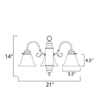 Maxim 91196MRSN Builder Basics 3 Light 21 inch Satin Nickel Mini Chandelier Ceiling Light in Marble alternative photo thumbnail