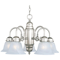 Maxim Lighting Builder Basics 5 Light Down Light Chandelier in Satin Nickel 91197MRSN